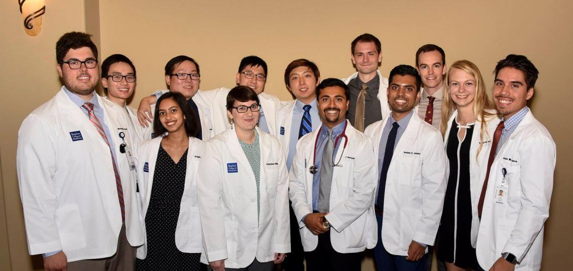 MSTP Entering class 2017 attending their white coat ceremony.