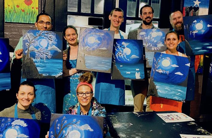 Paint night! This was pre-COVID; remember those days?