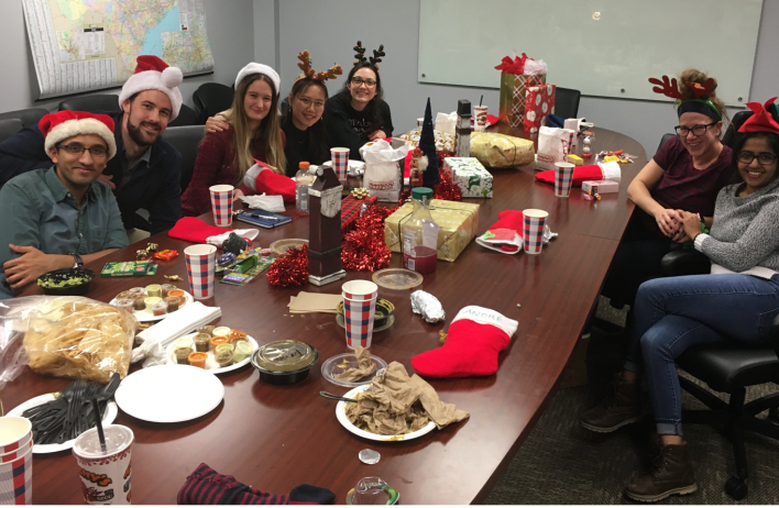2019 Holiday Party: The Cooper lab members enjoyed good food, games and a white elephant gift exchange.