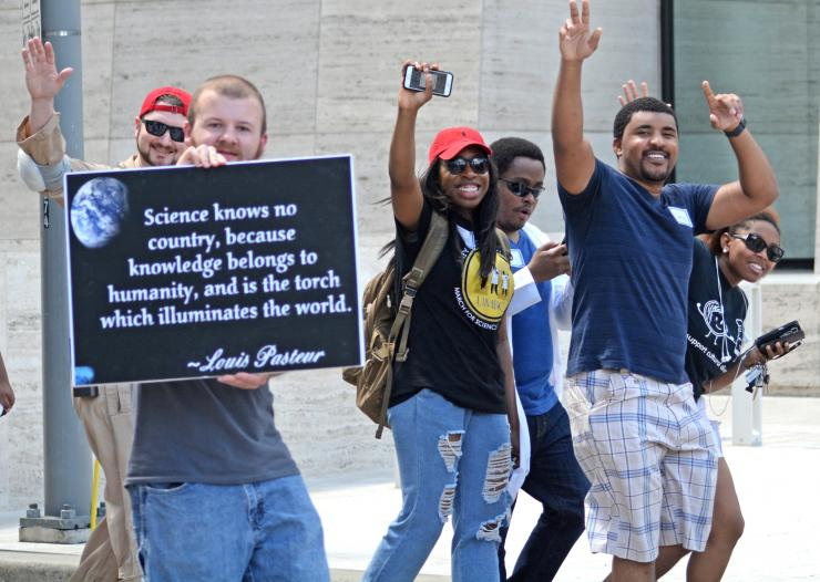 BCM students at the March for Science.
