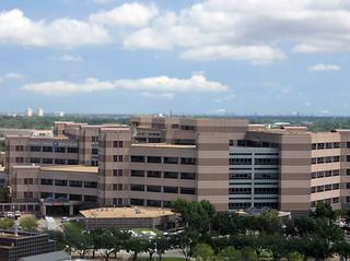 A view of the Michael E. DeBakey VA Medical Center as seen from the Baylor College of Medicine Medical Center