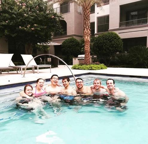 Upper-level students in the Genetics & Genomics Graduate Program host an annual pool party to welcome new students.