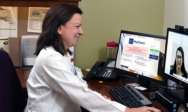 Doctor conducting a Telehealth Appointment