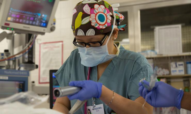 Anesthesiology Resident working in Ben Taub OR