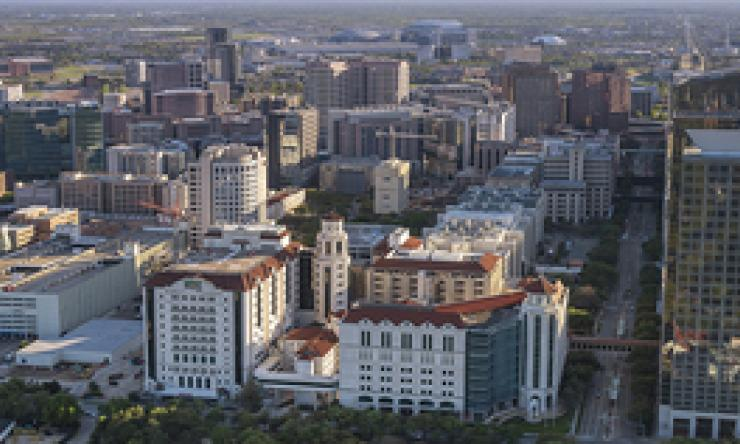 Aerial view of the Texas Medical Center