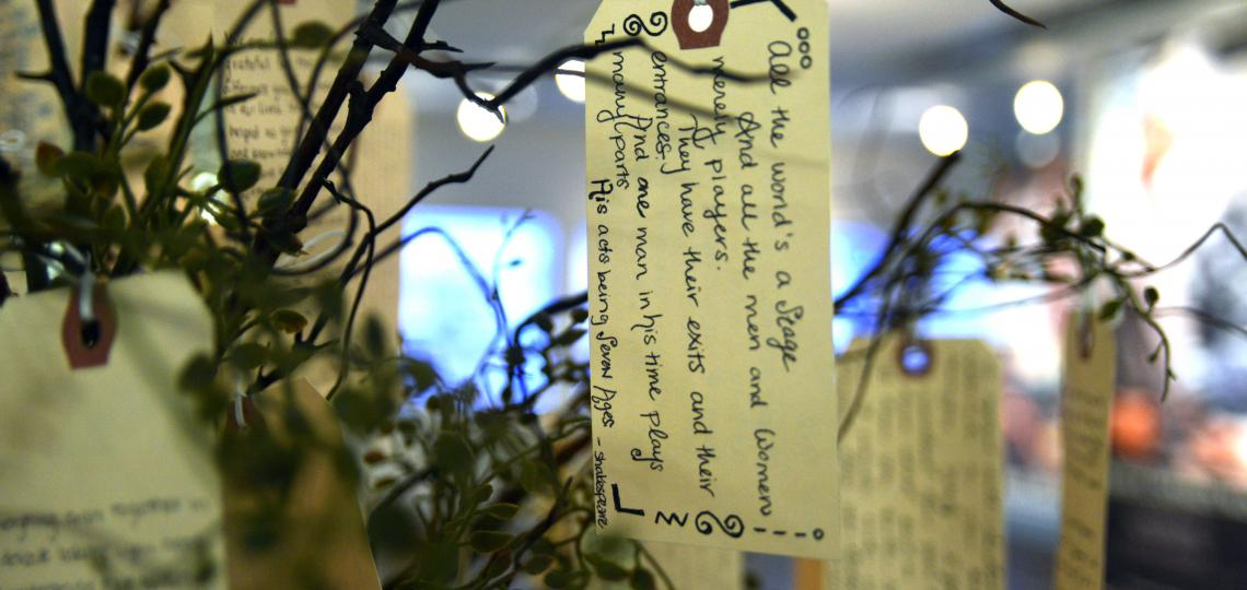 As a memorial to the donors, they created a tree representing life on which hangs written reflections from students.