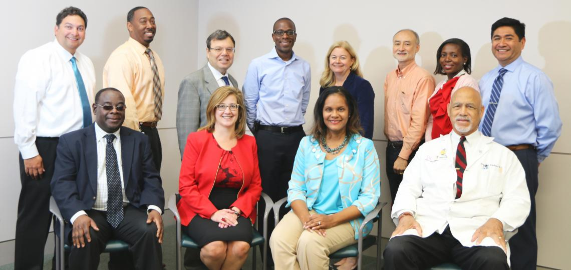 Group photo of the members of the Advisory Council for the Center of Excellence in Health Equity, Training and Research