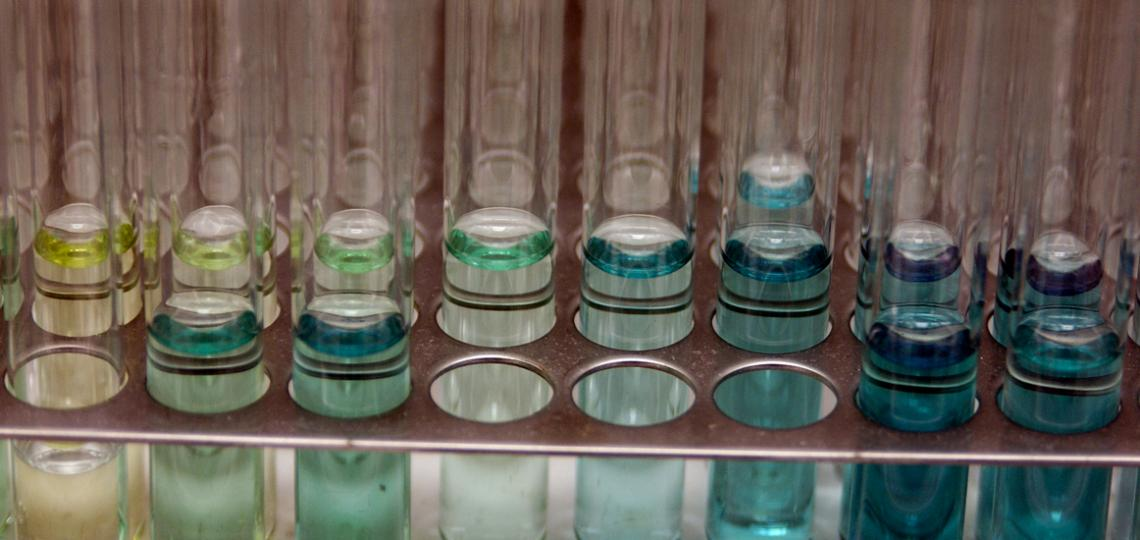 Image of test tubes from a lab.