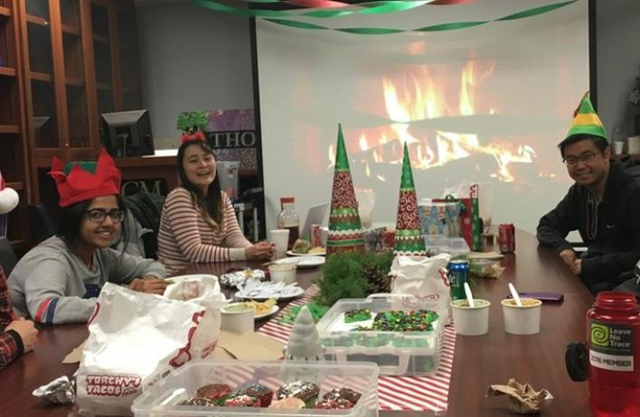 2018 Holiday Party A skeleton crew over the holidays but we know how to party!