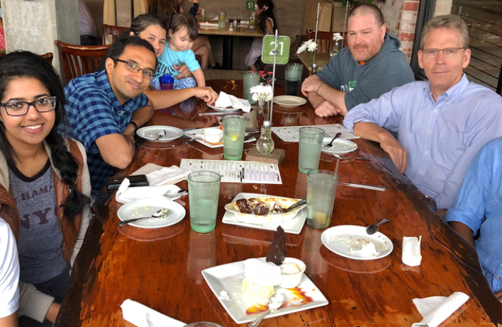 Lab Lunch Cooper lab members had a lunch outing to celebrate Ravi Singh's Cell Reports paper.