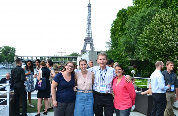 On the Seine at the International Myotonic Dystrophy Consortium Meeting in Paris.