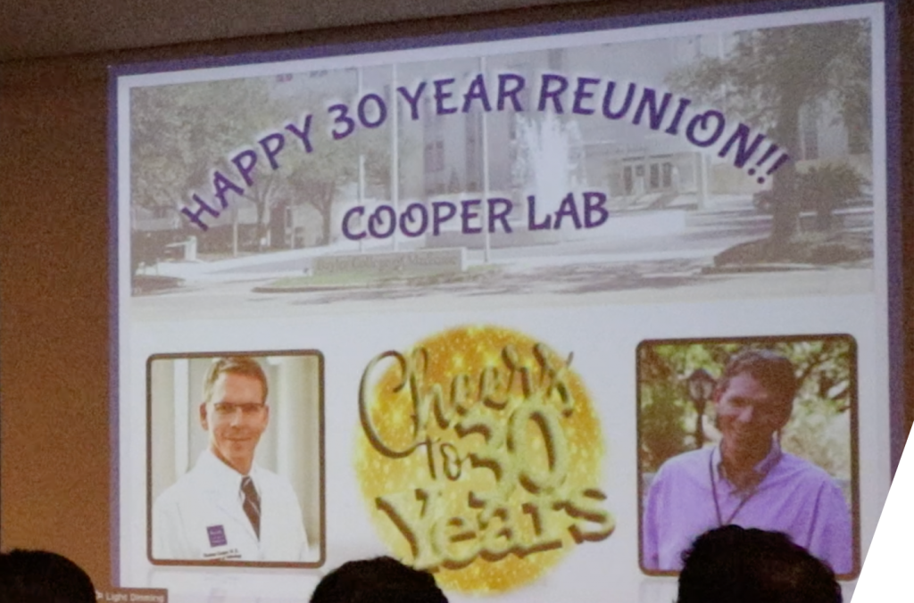 A time to reflect. 30 years of the Cooper lab. Okay now back to work!