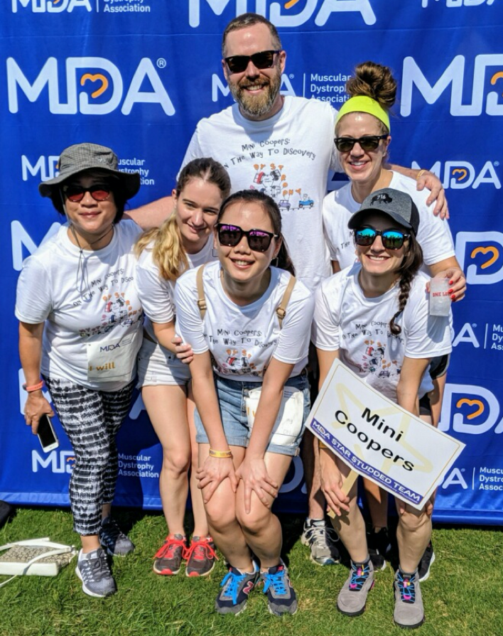 Members of the Cooper Lab participated in the 2019 Houston MDA Walk.