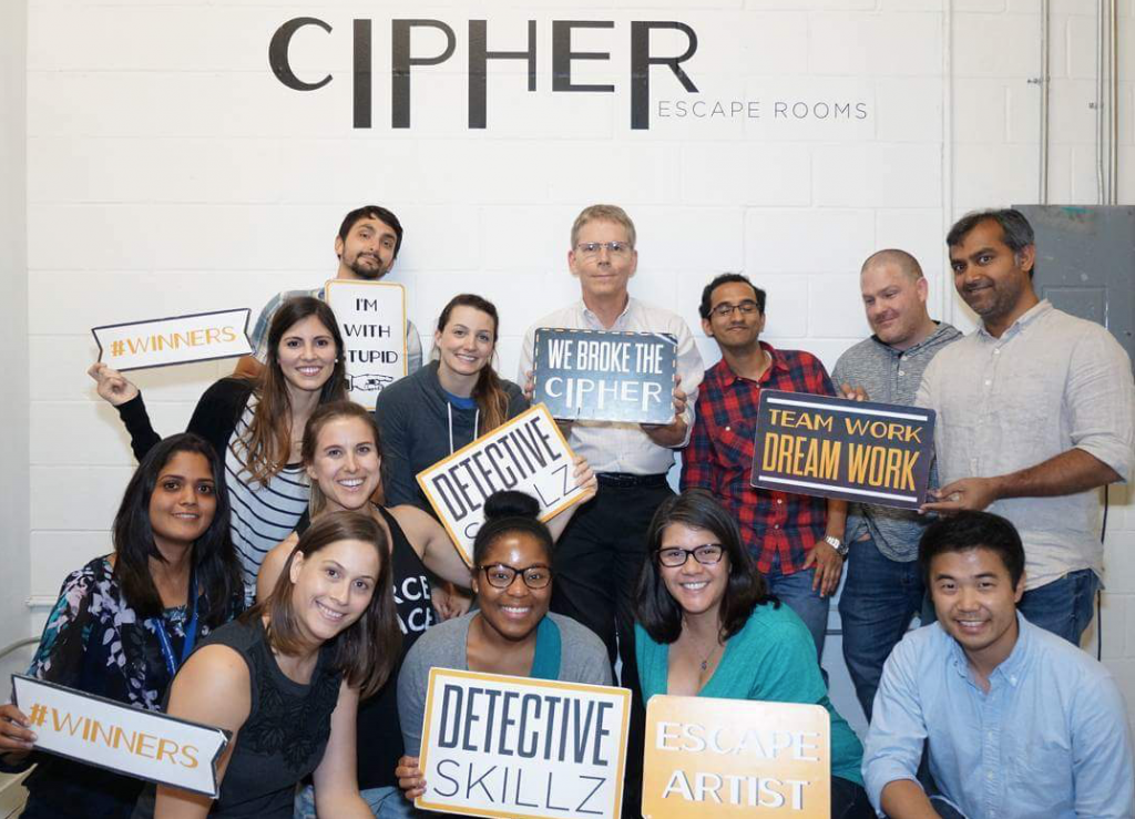 We escaped with less than one minute remaining. Team work did the trick.