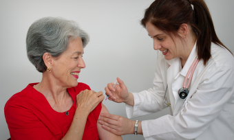For elderly adults, getting a flu shot is essential to maintaining good health, according to experts at Baylor College of Medicine. Image courtesy of the CDC.