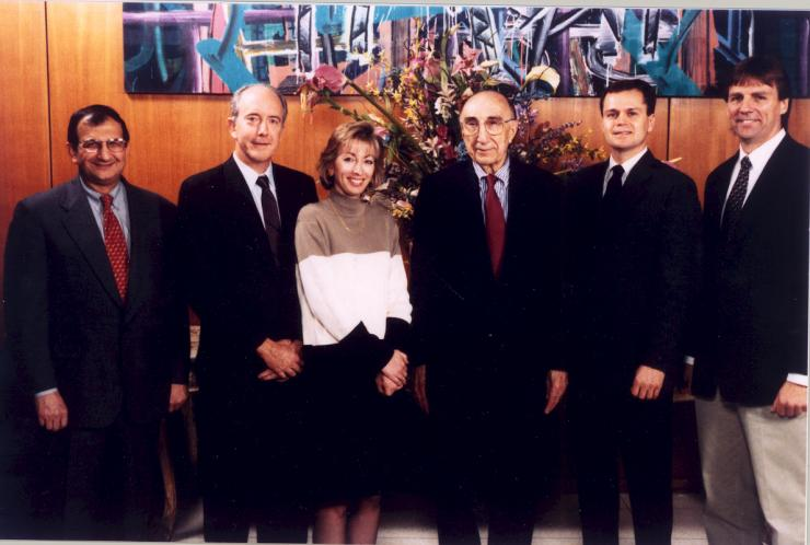 Winners of the 1998 Michael E. DeBakey, M.D., Excellence in Research Awards.