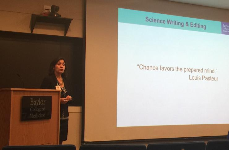 Speakers each provided an overview of their trajectory, discussed current projects and shared advice to students and postdocs interested in launching a career in writing or editing. The session was moderated by BCM graduate student Anindita Ravindran