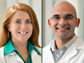 Dr. Jill Ann Jarrell and Dr. Jared Rubenstein, Pediatric Hospice and Palliative Medicine Fellowship co-directors.