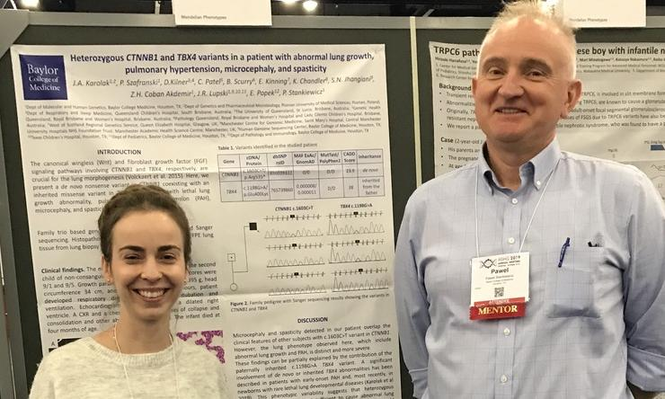 Justyna Karolak and Pawel Stankiewicz at the ASGH 2019 Meeting in Houston.