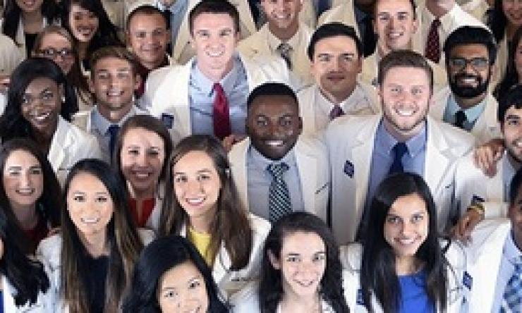 Smiling medical professionals